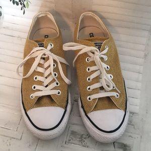 Converse precious metal ox sneakers sz 7.5